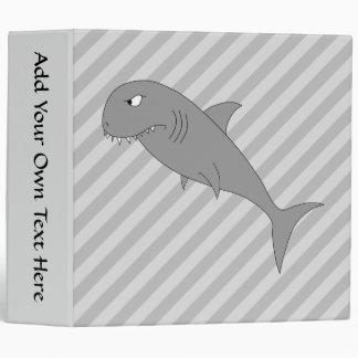 Shark Cartoon. 3 Ring Binder