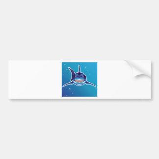 Shark Cartoon Bumper Sticker