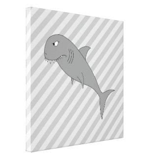 Shark Cartoon Gallery Wrap Canvas