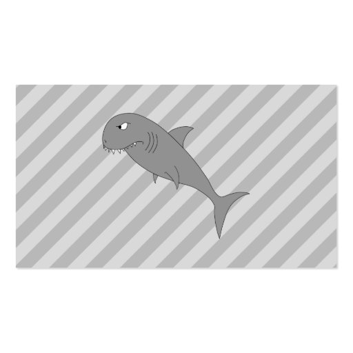 Shark Cartoon. Double-Sided Standard Business Cards (Pack Of 100)