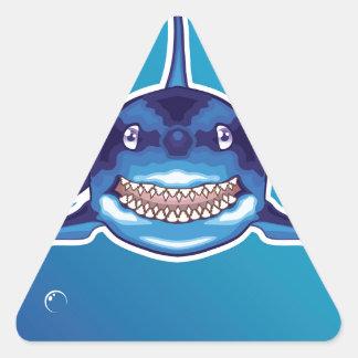 Shark Cartoon Triangle Sticker