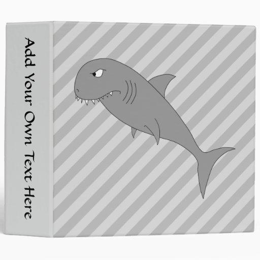 Shark Cartoon. Vinyl Binders