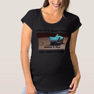 Shark Cat Maternity T-Shirt
