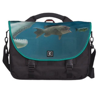 Shark chasing sea bass chasing juvenile computer bag
