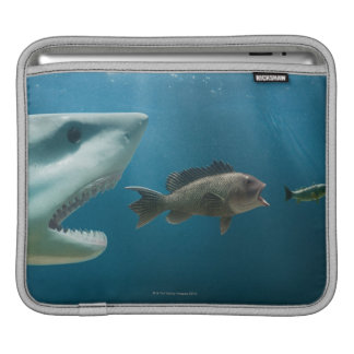 Shark chasing sea bass chasing juvenile sleeve for iPads