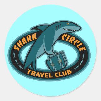 Shark Cirlce Travel Club Classic Round Sticker
