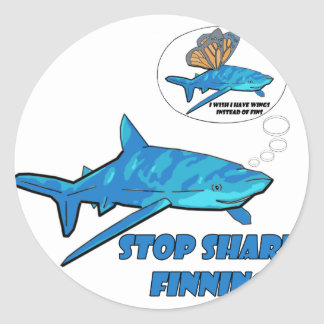 Shark Classic Round Sticker