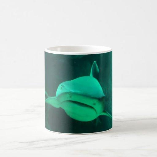 shark classic white coffee mug