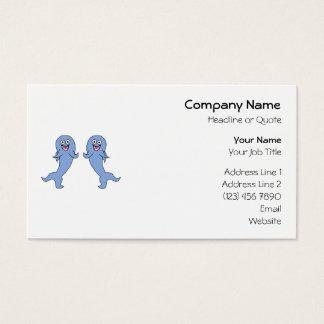 Shark Couple, Dancing. Business Card