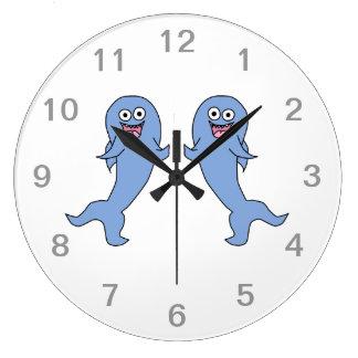 Shark Couple, Dancing. Large Clock