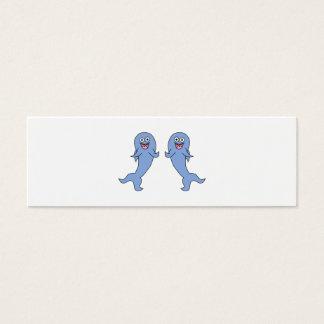 Shark Couple, Dancing. Mini Business Card