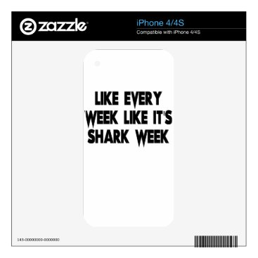 Beach Themed shark decals for the iPhone 4