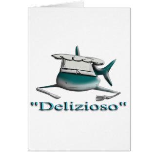 Shark Delizioso Greeting Card