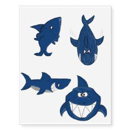 Shark design temporary tattoos