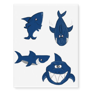 Shark design temporary tattoos