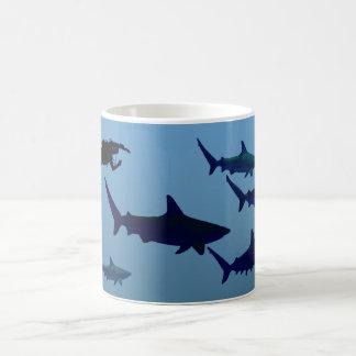 Shark Diver Coffee Mug