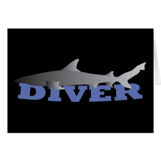 Shark Diver Greeting Card