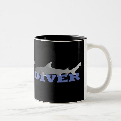 Shark Diver Mug