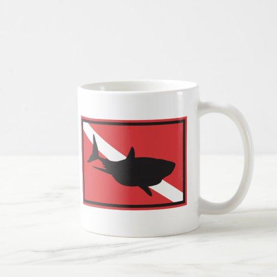 Shark Diving Flag Coffee Mug