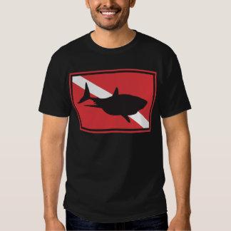 Shark Diving Flag T Shirt
