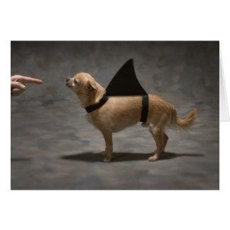 Shark Dog Greeting Card