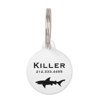 Shark Drawing Pet Name Tag