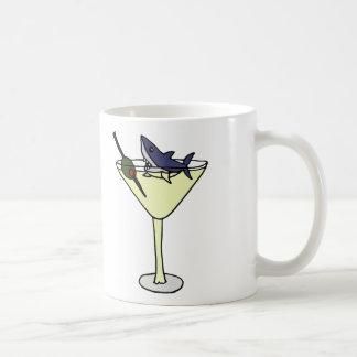 Shark Eating Martini Olive Coffee Mug
