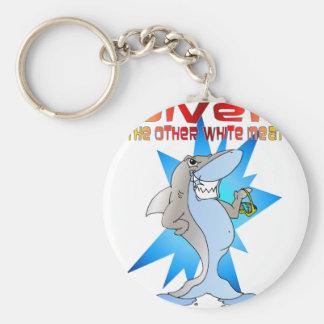 Shark eats Diver Keychain