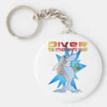 Shark eats Diver Keychains
