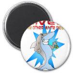 Shark eats Diver Refrigerator Magnets
