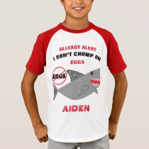 Shark Egg Allergy Alert Personalized T-Shirt