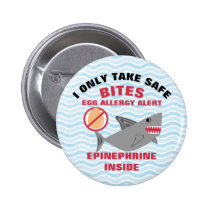 Shark Egg Allergy Alert Warning Epinephrine Button