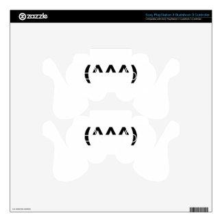 shark emoticon symbol shirt.png PS3 controller decals