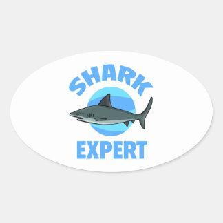 Shark Expert Oval Sticker
