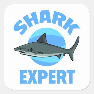 Shark Expert Square Sticker