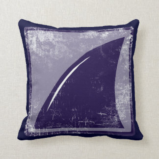 shark fin blue-color throw pillow