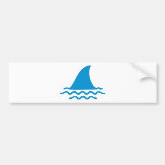Shark fin bumper sticker