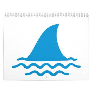 Shark fin wall calendars