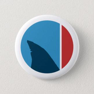 shark fin circle pinback button