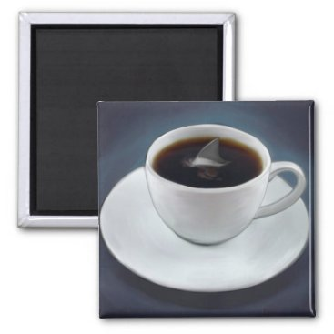 Coffee Themed Shark Fin Coffee Magnet