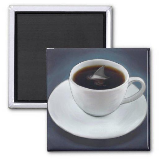 Shark Fin Coffee Magnet