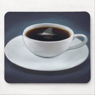 Shark Fin Coffee Mousepad