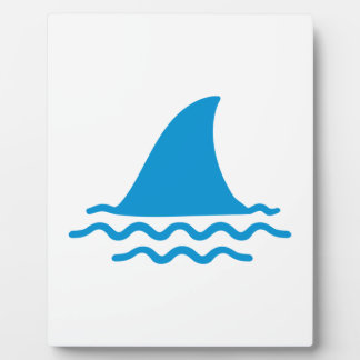 Shark fin display plaque