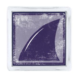 shark fin silver finish lapel pin
