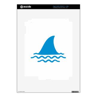 Shark fin iPad 2 decals