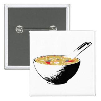 shark fin soup 2 inch square button