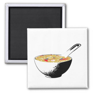 shark fin soup 2 inch square magnet