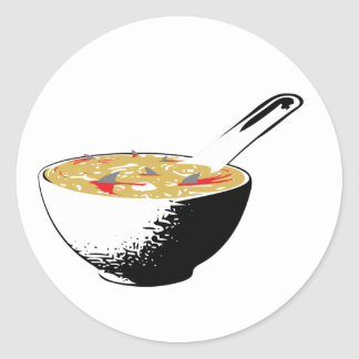 shark fin soup classic round sticker