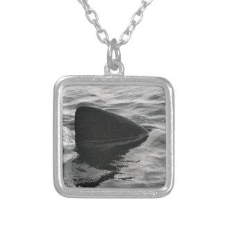 Shark Fin Square Pendant Necklace