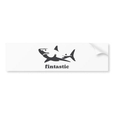 Beach Themed Shark - fintastic bumper sticker